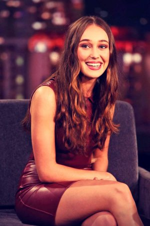 Alycia Debnam Carey at Jimmy Kimmel Live