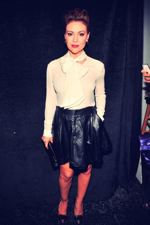Alyssa Milano attends Marissa Webb Spring 2014 Fashion Show