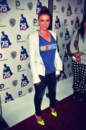 Alyssa Milano attends Superman's 74th Anniversary Party