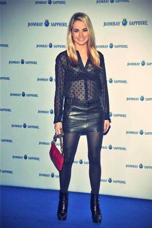 Amanda Hearst attends a party in Madrid