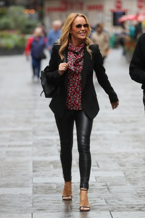 Amanda Holden arriving at Global Radio studios