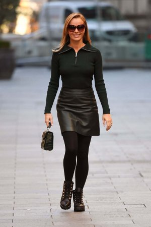 Amanda Holden leaving the Global studios in London