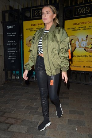 Amber Davies attends 9 to 5 Theater Production at The Savoy Theatre in London 26th April 2019