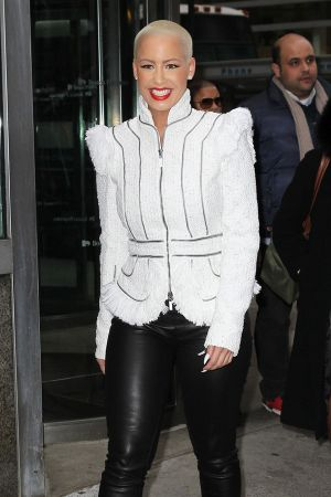 Amber Rose  leaving the Hillstone Restaurant in NYC