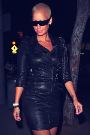 Amber Rose leaving Voyeur Nightclub