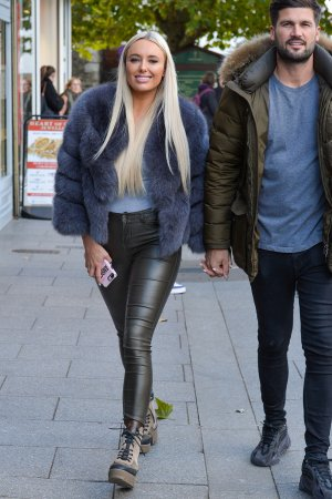 Amber Turner filming Towie