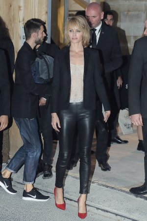 Amber Valletta attends Saint Laurent Fashion Show