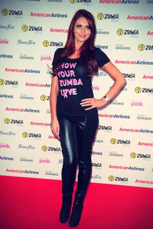 Amy Childs at Pink Zumbathon Party in aid of Breakthrough Breast Cancer