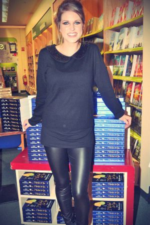 Amy Huberman signs copies of her book I Wished For You