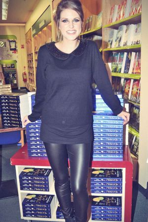 Amy Huberman signs copies of her new book