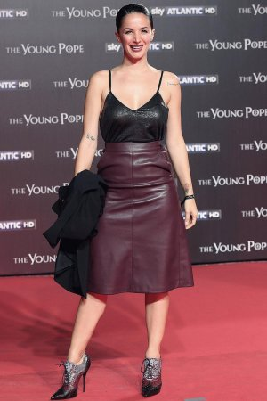 Andrea Delogu walks the red carpet at 'The Young Pope' premiere