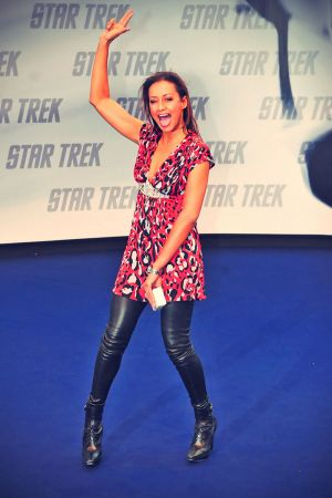 Andrea Kempter attends the Star Trek Germany premiere