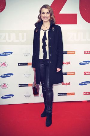 Andrea Luetke attends the German premiere of the film Zulu