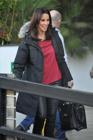 Andrea McLean at the ITV studios