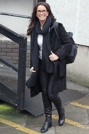 Andrea McLean outside ITV Studios