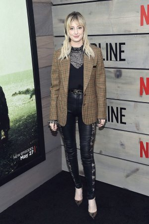Andrea Riseborough attends the Bloodline premiere