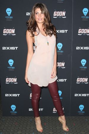 Angela Martini attends the Goon Premiere at the SVA Theater in NYC