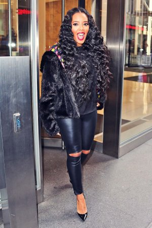 Angela Simmons at AOL BUILD studios