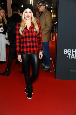 Angelina Heger attends the premiere 96 Hours - Taken 3