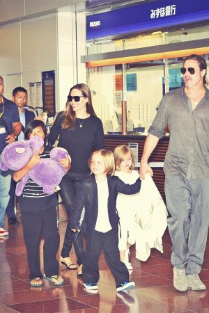 Angelina Jolie at Haneda International Airport
