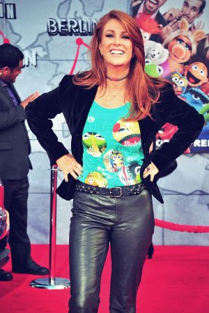 Angie Everhart attends the Muppets Most Wanted Premiere