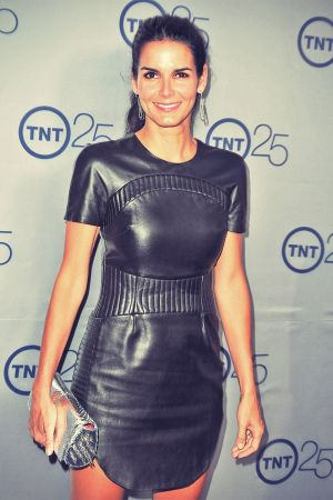 Angie Harmon arrives to TNT's 25th Anniversary Party
