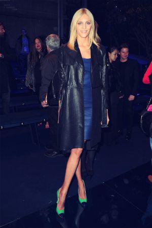 Anja Rubik at Versace AW 2012/2013 fashion show