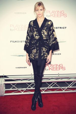 Anja Rubik attends screening of Playing For Keeps