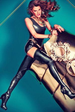 Anna Dello Russo leather mix