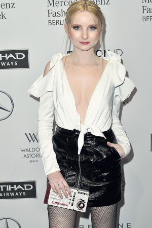 Anna Hiltrop attends the Mercedes-Benz Fashion Week Berlin