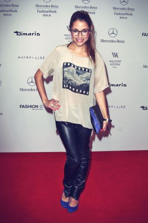 Anna Julia Kapfelsberger attends Mercedes-Benz Fashion Week