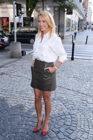Anna Kalczynska seen at Good Morning