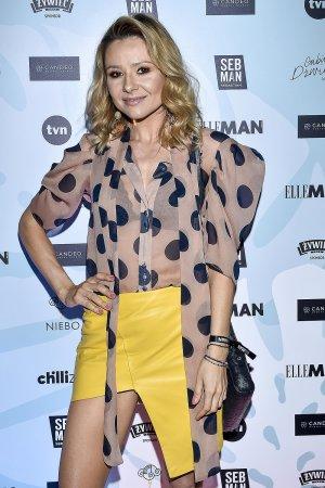 Anna Karwan attends premiere of the new Elle Man