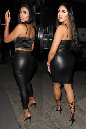 Anna & Mandi Vakili night out at Playboy Club