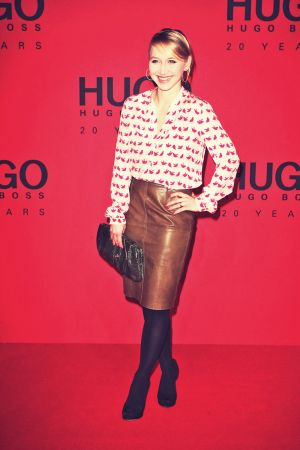 Anna Maria Muhe attends Mercedes-Benz Fashion Week Berlin 2013