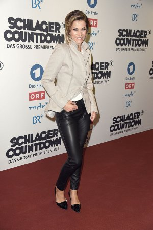 Anna-Maria Zimmermann attends the Schlagercoutdown