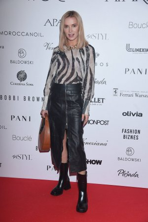 Anna Piszczalka attends Lukasz Jemioł fashion show