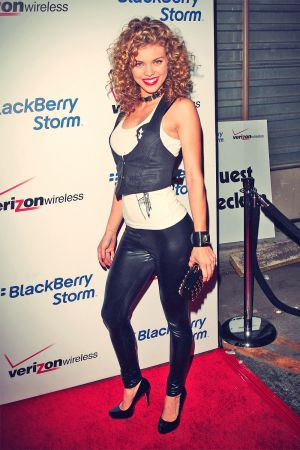 AnnaLynne McCord attends Blackberry Storm Launch Event