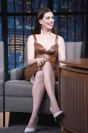 Anne Hathaway attends Late Night With Seth Meyers