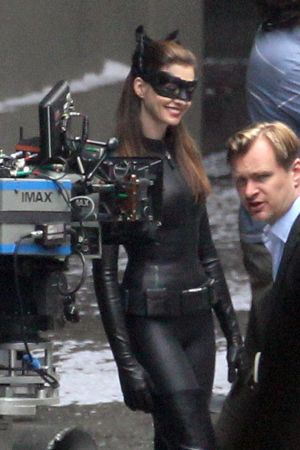 Anne Hathaway on the set of The Dark Knight Rises in LA