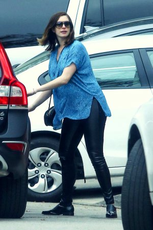 Anne Hathaway out in Hollywood