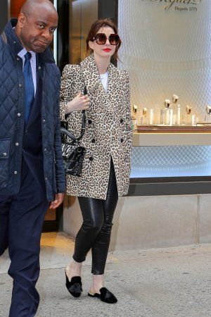 Anne Hathaway stepping out in New York