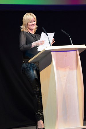 Anthea Turner attends Marie Curie Brain Game 2014