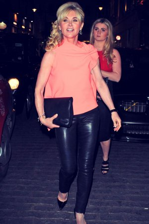 Anthea Turner out & about in London
