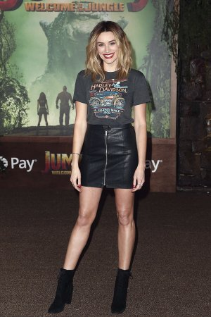 Arielle Vandenberg attends Jumanji Welcome to the Jungle film premiere