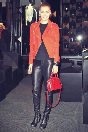 Arizona Muse attends Paris Fashion Week Autumn Winter