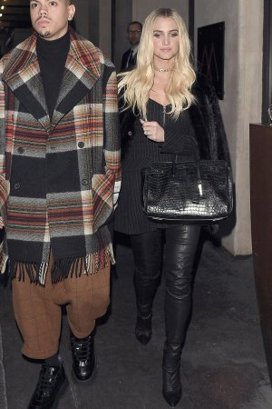 Ashlee Simpson out and about in London