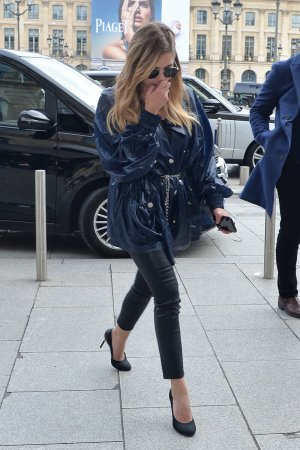 Ashley Benson leaves the Bristol hotel for the Chanel fashion show