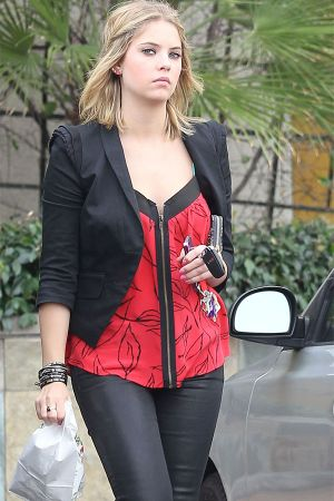 Ashley Benson picks up some lunch from a Togo's sandwich shop in LA