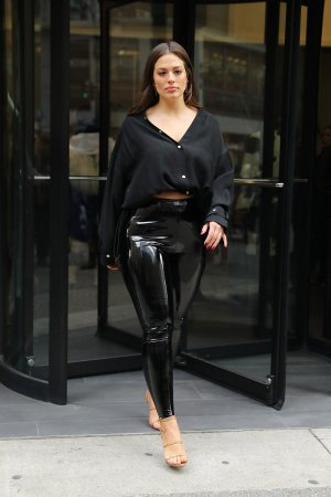 Ashley Graham leaving the Phillip Lim Fashion Show